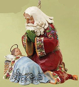 Santa W Baby Jesus