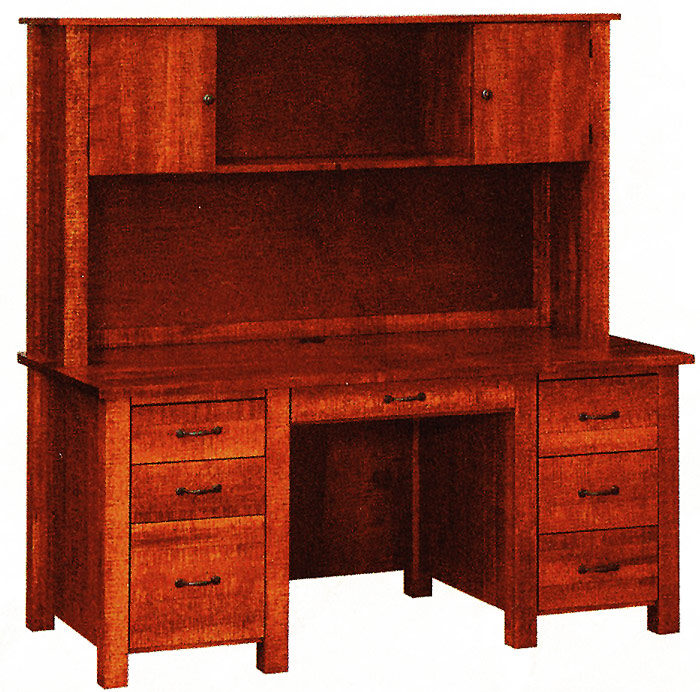 Double Pedestal Desk Choice Of Writing Or Computer