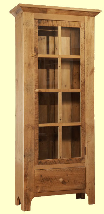 Antique Barnwood Curio Cabinet