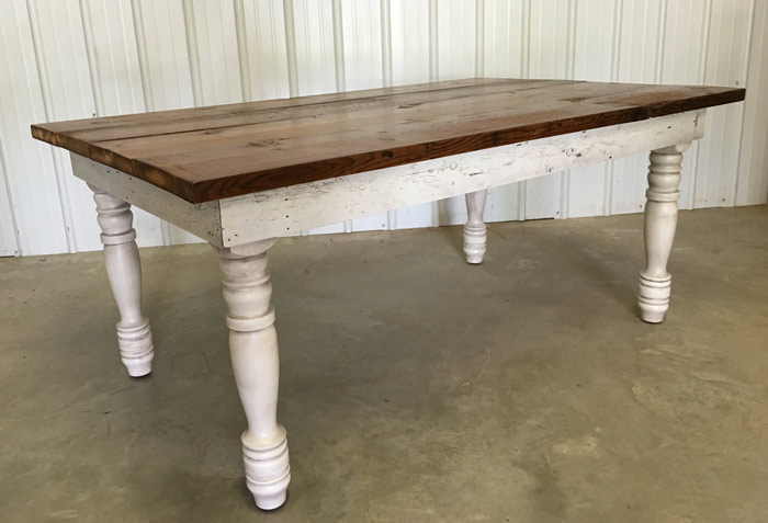 Antique Barnwood Tables Farm Pedestal Trestle - Salvaged wood farmhouse table