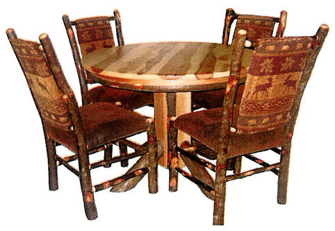 bylers rustic hickory & oak tables & chairs