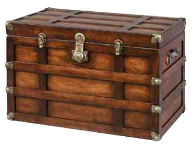 Delightful Plymouth Tall Flat Top Steamer Trunk