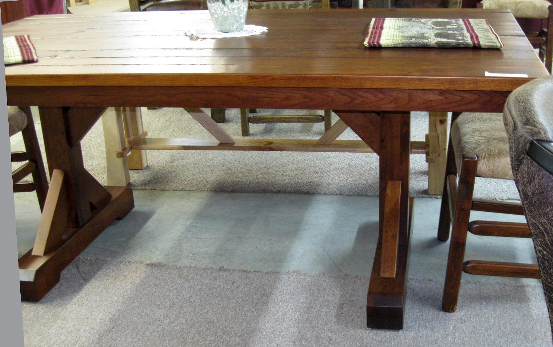 cornerstone trestle tables rustic chairs rustic cherry dinin