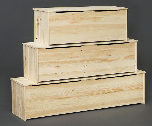 Pine Storage Chest / Box With Seat Top