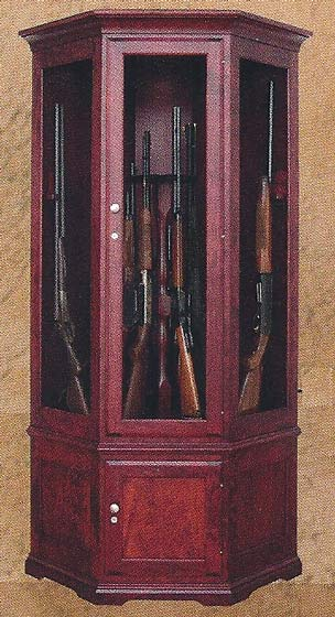Merveilleux Gun Cabinet Styles. Left   Mission, Center   Heirloom, Right   Traditional  Contemporary