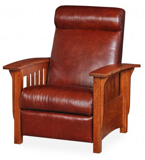 Mission Style Sofa Leather Leather Upholstered Mission