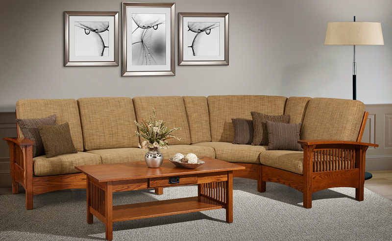 Sectional Mission Style Upholstered Furniture