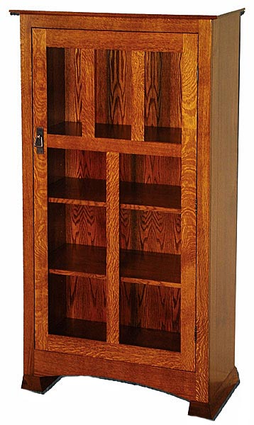 today free shipping home hollydale garden mission style product bookcase overstock chestnut