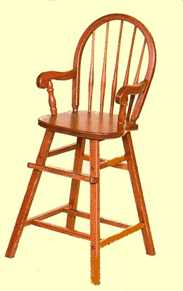 Bow Back High Chair  sc 1 st  Our American Heritage & Eshu0027s Amish made Oak Childrenu0027s Furniture u0026 Toys