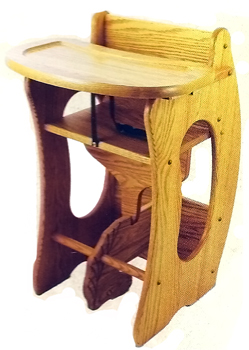 Three In One Chair High Chair Rocking Horse Desk 243