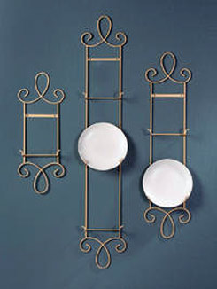 decorative plate rack for wall | Cosmecol