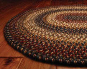 Home Spice Decor Braided Cotton Real Wool Rugs