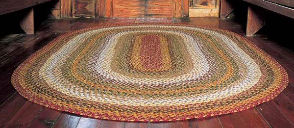 100 Cotton Braided Rug Pumpkin Pie