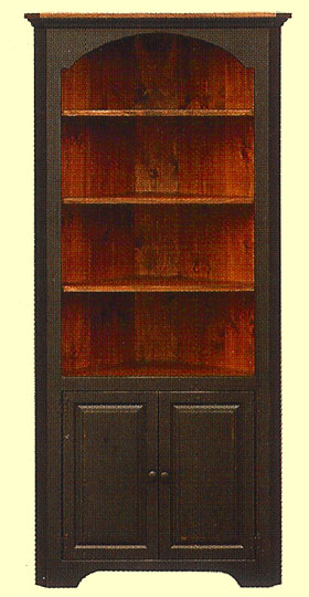 Colonial Style Large Tall. Corner Cupboard