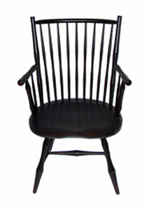 (Click On Picture To Enlarge). Rod Back. Windsor Arm Chair