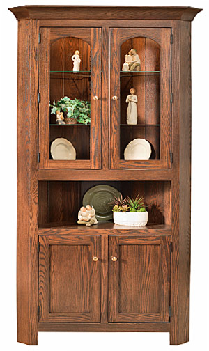 Corner Hutch Cabinets   Queen Anne, Shaker, Georgetown, Mission, Amish  Country, Concord, Royal Mission, Plymouth Styles