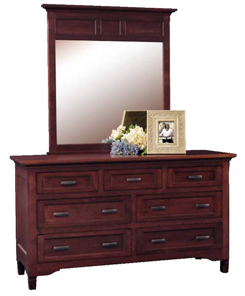 lexington collection seven drawer tall dresser