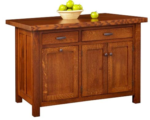 Old California Mission Style Kitchen Island