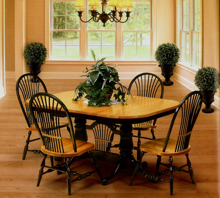 Pedestal Trestle Tables From All Our Amish Craftsman