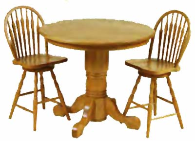 7 Spindle Arrowback Swivel Tavern Chairs  sc 1 st  Our American Heritage & Gathering Tables from all our Amish Craftsman