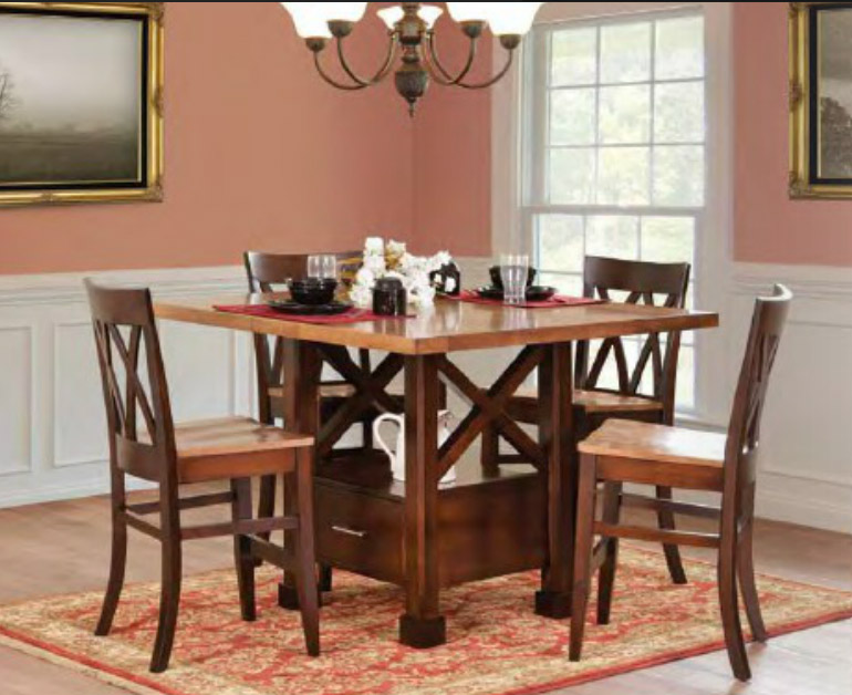 all our amish made  gathering or pub tables gathering tables from all our amish craftsman  rh   amerheritage com