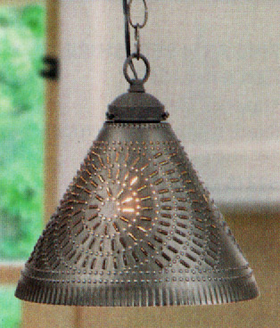 Colonial Style Tinware Table & Floor Lighting