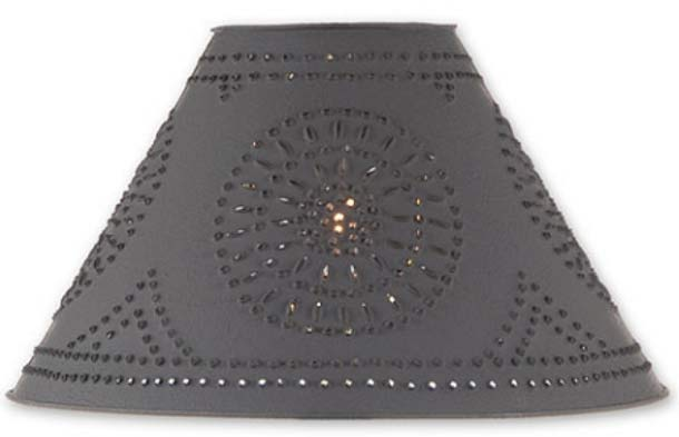 Colonial style tinware accent lighting punched tin lamp shades mozeypictures Images