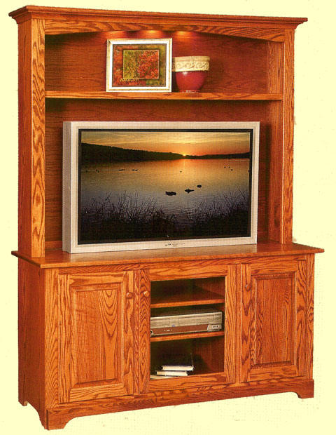 Shaker Styling Hutch Top Tv Console Center