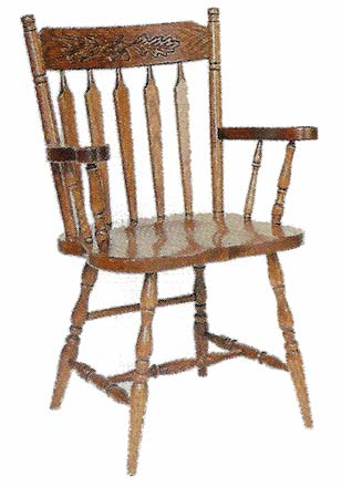 Acorn Colonial Arrow Back Chairs   Style 19