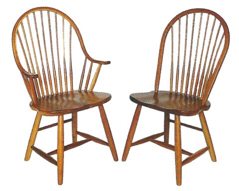 Shaker New England Windsor Chairs   Style 55