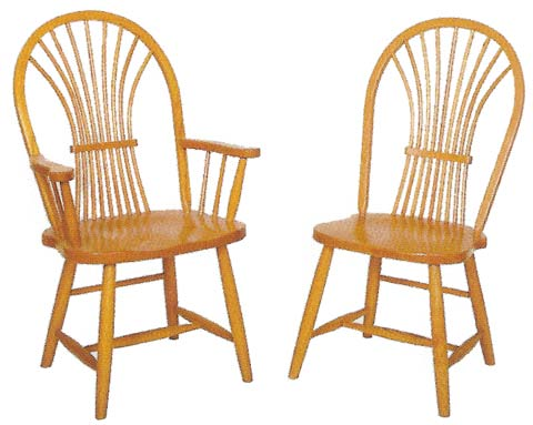 Shaker Wheat Back Windsor Chairs   Style 75