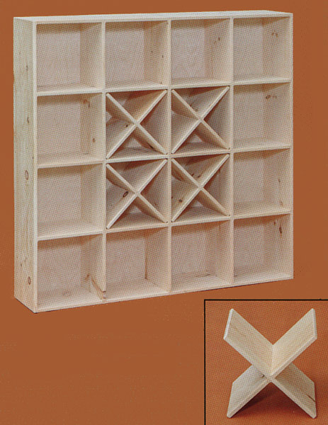 16 hole cube shown with optional bin dividers