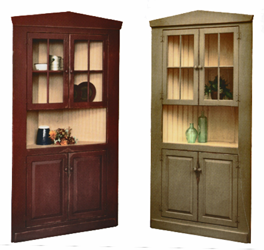 - Corner Cupboards Collection Amish Made In PA