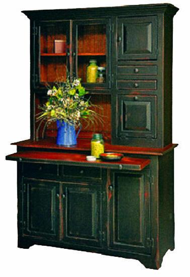 Kitchen Hutch Oak T6106N  miniature dollhouse 1//12 scale Hoosier Cabinet