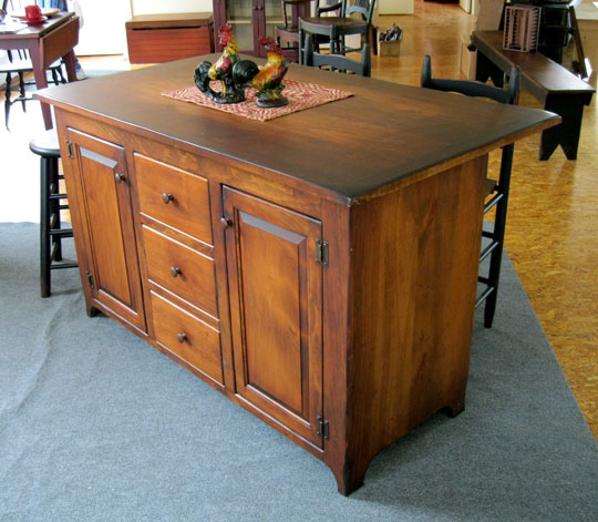 Honey Brook Woodcrafts Kitchen Islands Dry Sinks Microwave Stands - Amish kitchen island