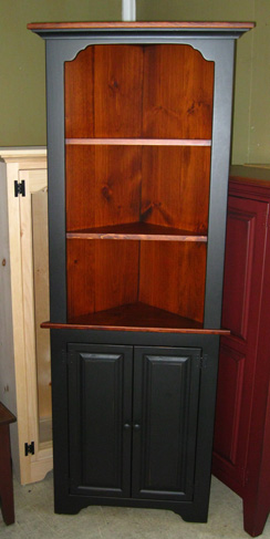 Corner Cupboard & Corner Cupboards Collection Amish Made in PA