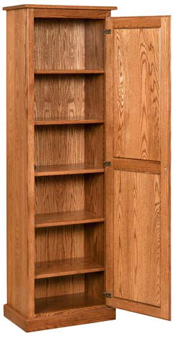 Narrow 1 Door Pantry Cupboard W Full Length Door
