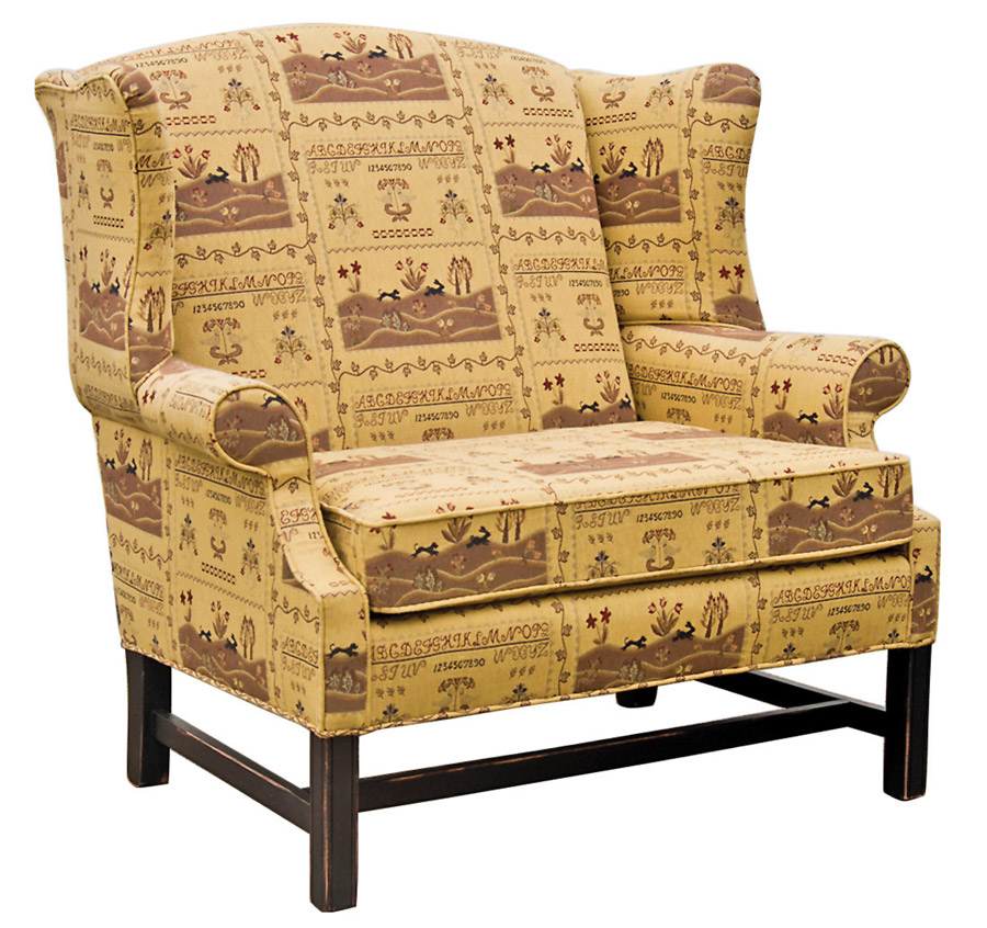 Country Town Amish Made Upholstered, Town And Country Primitive Upholstered Furniture