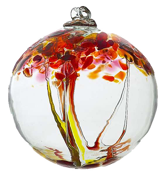 Kitras art glass witch balls trees of enchantment collections