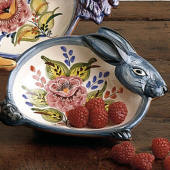 Rabbit Dish, Floral