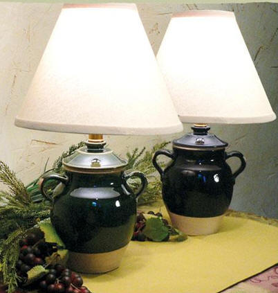 pair earthenware lamp lamps homenature products of table vintage pottery kkaadnvyttor